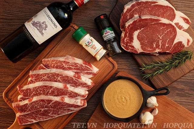 Hộp quà tết thịt bò nhập khẩu