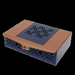 Mẫu hộp quà gỗ bọc da 01