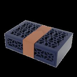 Mẫu hộp quà gỗ bọc da 02