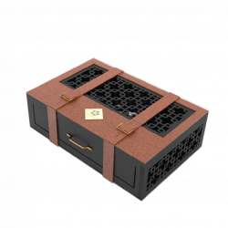 Mẫu hộp quà gỗ bọc da 03