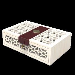 Mẫu hộp quà gỗ bọc da 04