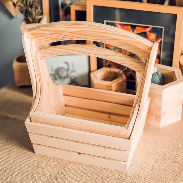 Giỏ quà làm từ gỗ