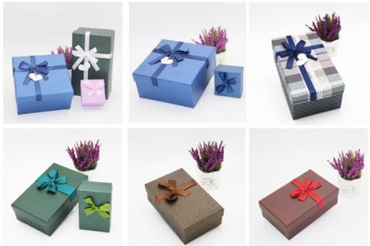 Hộp giấy đựng quà có nhiều kiểu dáng bắt mắt